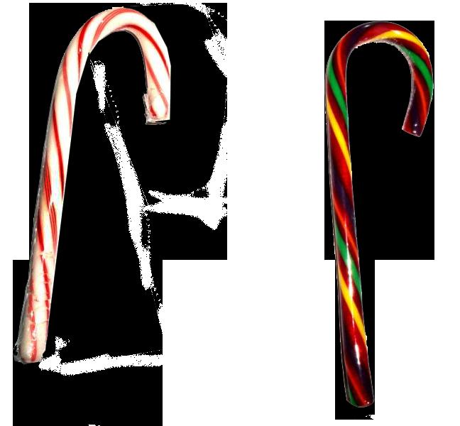 杖形のキャンディー
